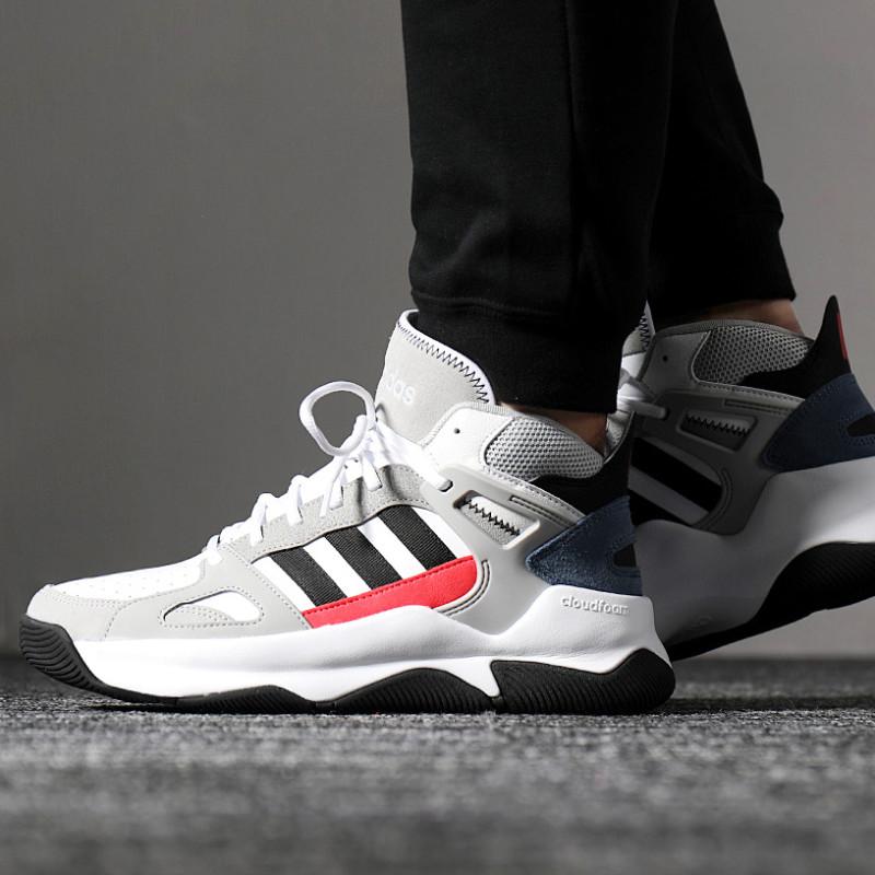 adidas/阿迪达斯 neo 男鞋运动鞋高帮休闲板鞋aw4585图片