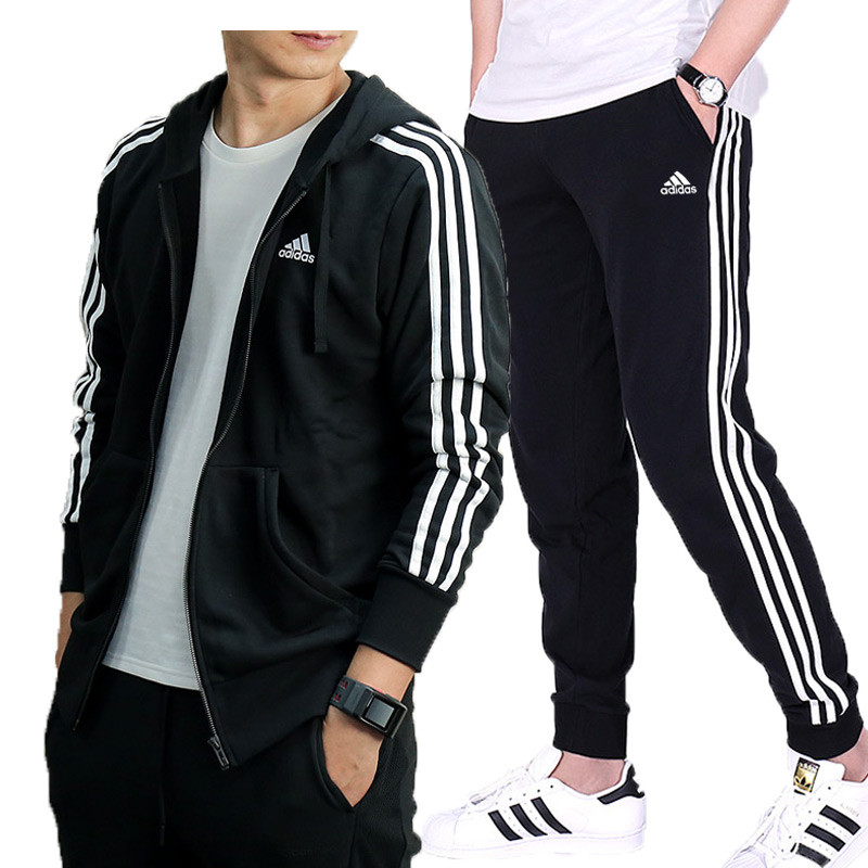 adidas 阿迪达斯 男套装 2017新款运动服连帽休闲外套