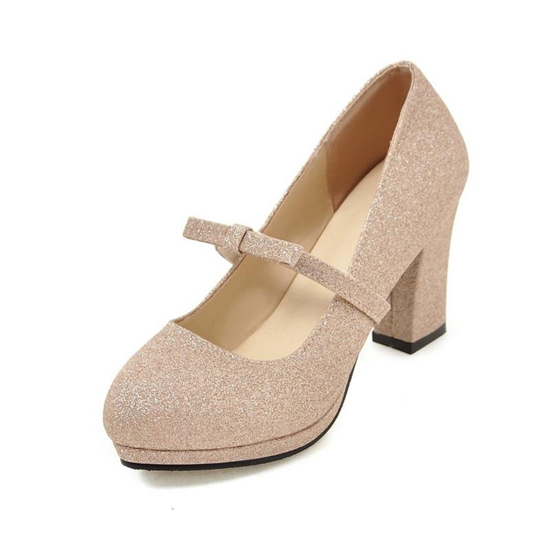韩版2017春季童鞋小女孩儿童高跟鞋女童皮鞋成人礼大童公主鞋单鞋