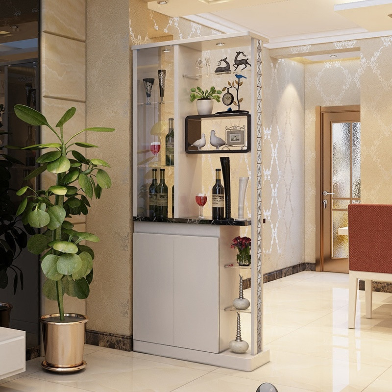 淮木 装饰屏风小户型玄关酒柜双面隔断鞋柜进门间厅柜 简约现代客厅