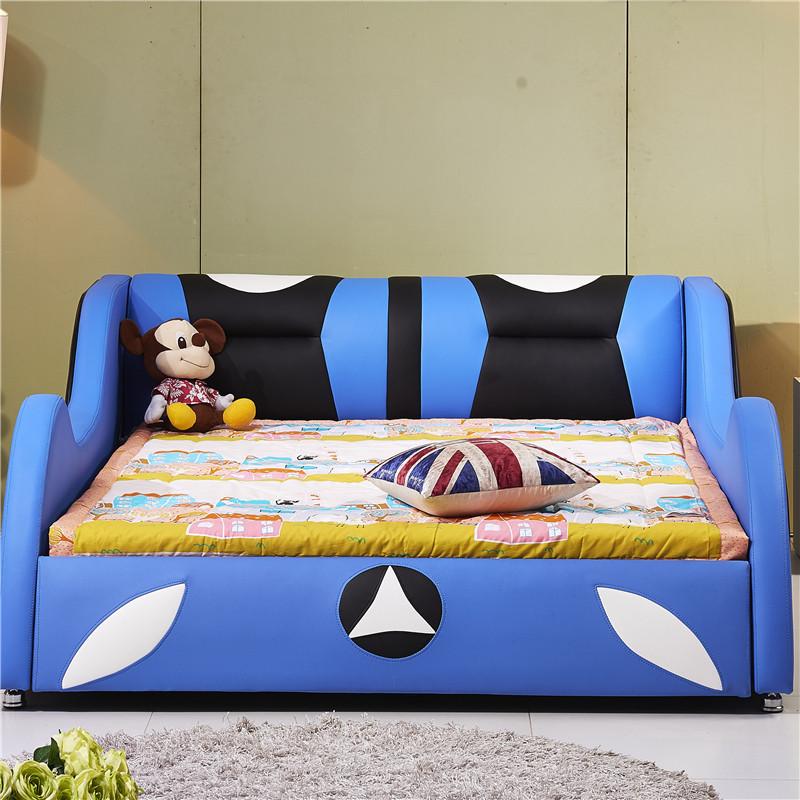 (huaimu)儿童床带护栏儿童床男孩女儿童床单人床儿童家具小孩床汽车床