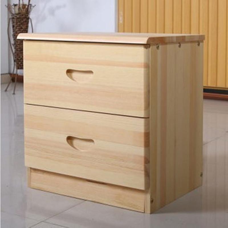 淮木 松木床头柜 实木简约斗柜田园床边柜 储物柜小角