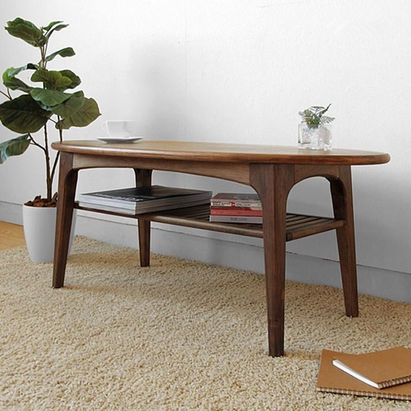 淮木 黑胡桃木家具白橡木创意咖啡桌实木茶几简约客厅