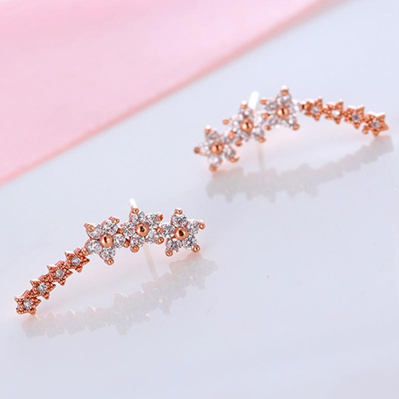 彩丽馆 韩版女士耳钉气质 可爱甜美银耳钉925银针女式