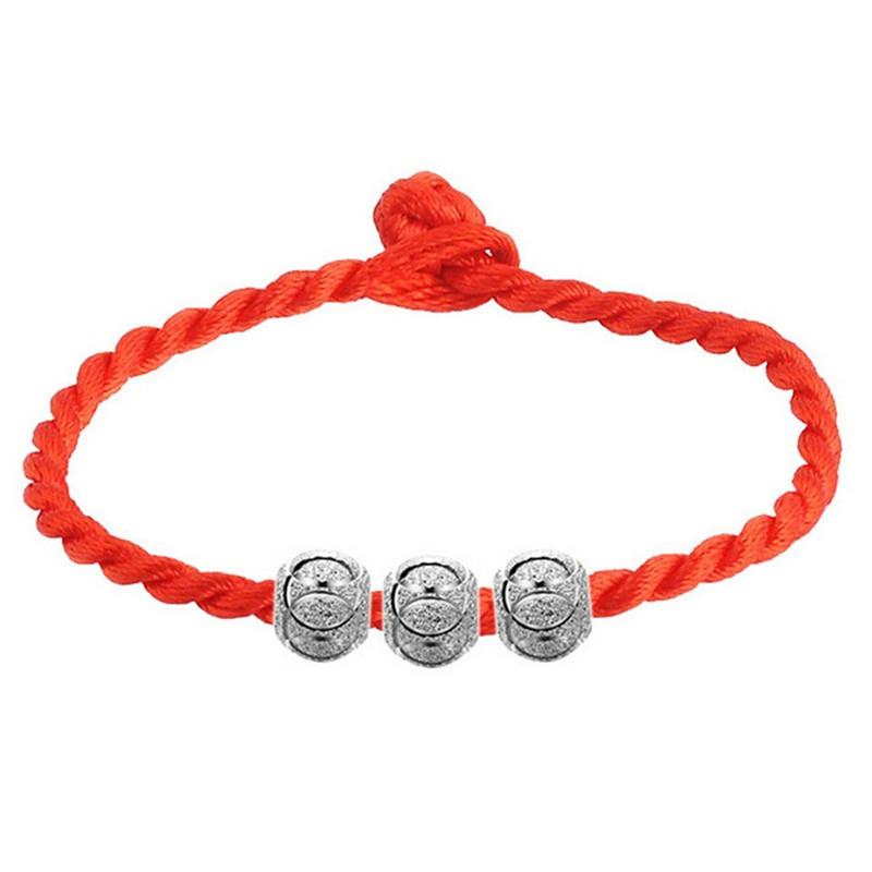 红绳_彩丽馆 镀925银手链 红绳 女款 转运珠红绳 饰品
