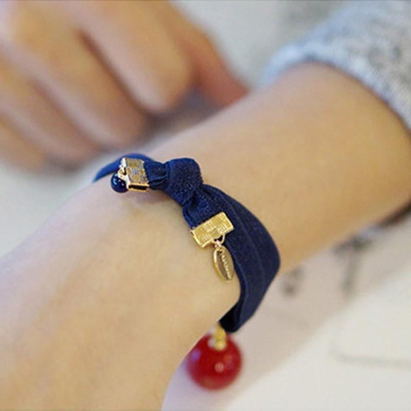 彩丽馆 韩国时尚圆球发圈气质手链两用韩版头饰韩式打结发绳扎头发图片