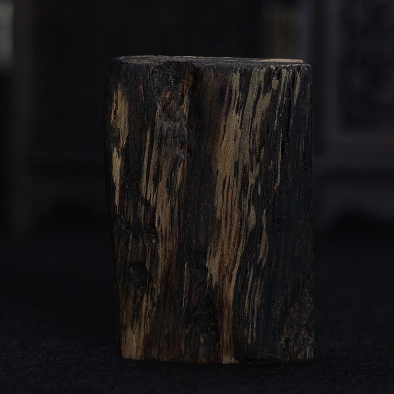 彩丽馆礼品之家 手工木雕项坠车饰摆件把玩件 柬埔寨老料黑油沉香原木