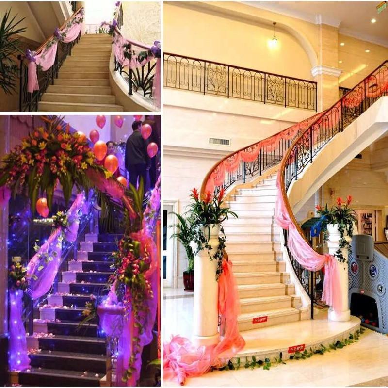 婚庆用品纱幔 结婚礼婚房布置道具装饰纱布装饰 楼梯扶手雪纱沙曼
