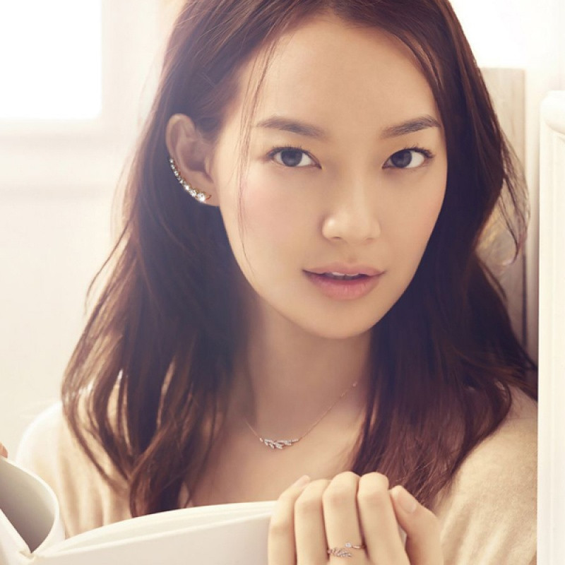 彩丽馆925纯银耳钉女韩国时尚小清新满钻耳排连体耳环图片
