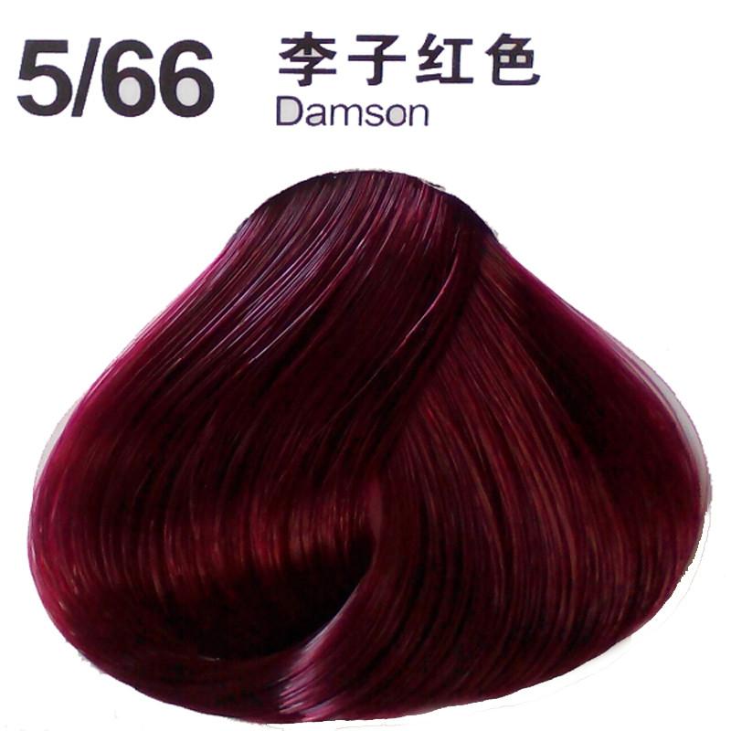 头发彩色染发剂植物盖白发染膏染发膏焗油膏染色膏 100ml*2李子红色