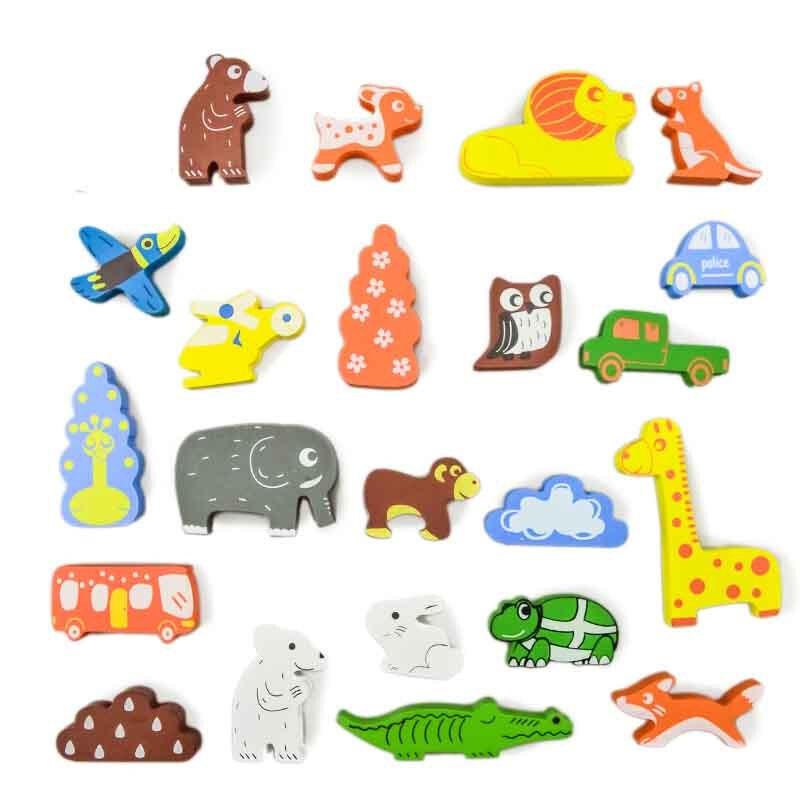 模型之家儿童益智玩具积木大块木制实木积木拼装宝宝玩具送儿童节生日