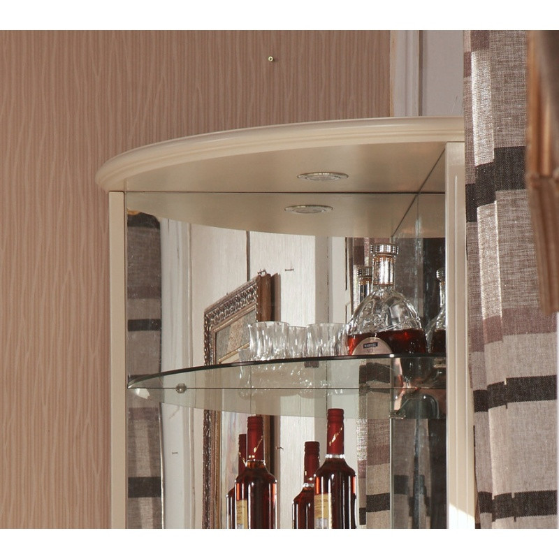 千住明韩式田园三角柜 欧式酒柜墙角柜 玻璃转角酒柜 客厅餐厅高陈列