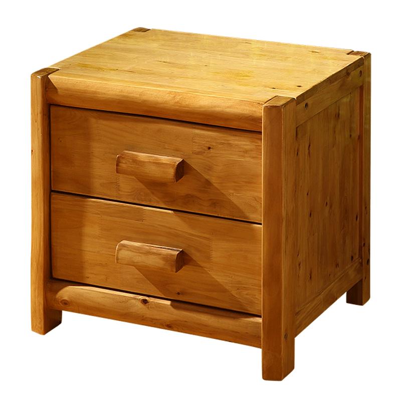 明纯柏木实木床头柜 原木床头柜简约床头柜储物柜床边柜木头小柜子
