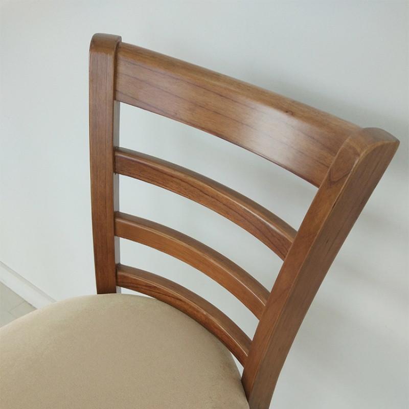 千住明美式实木吧椅吧台椅吧凳欧式复古布艺酒吧椅靠背高脚椅圆凳