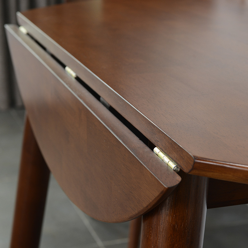 千住明餐厅北欧全实木餐桌椅组合可折叠伸缩小户型多功能长方椭圆形