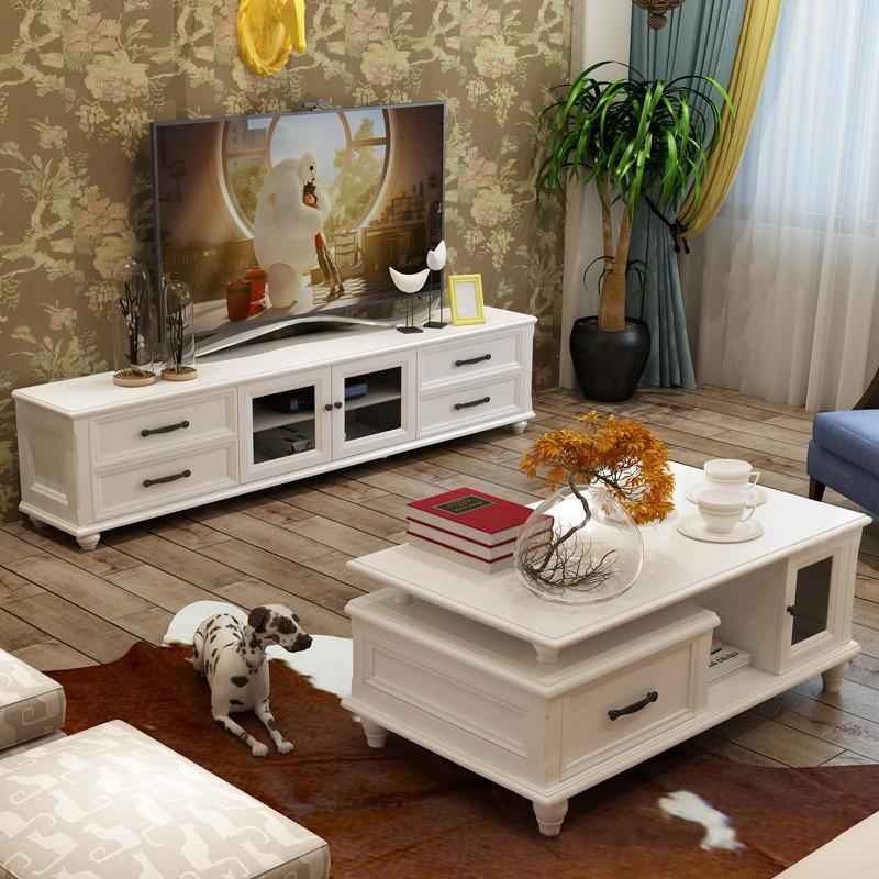 尚享 电视柜 美式电视柜 欧式烤漆电视柜简约茶几电视图片