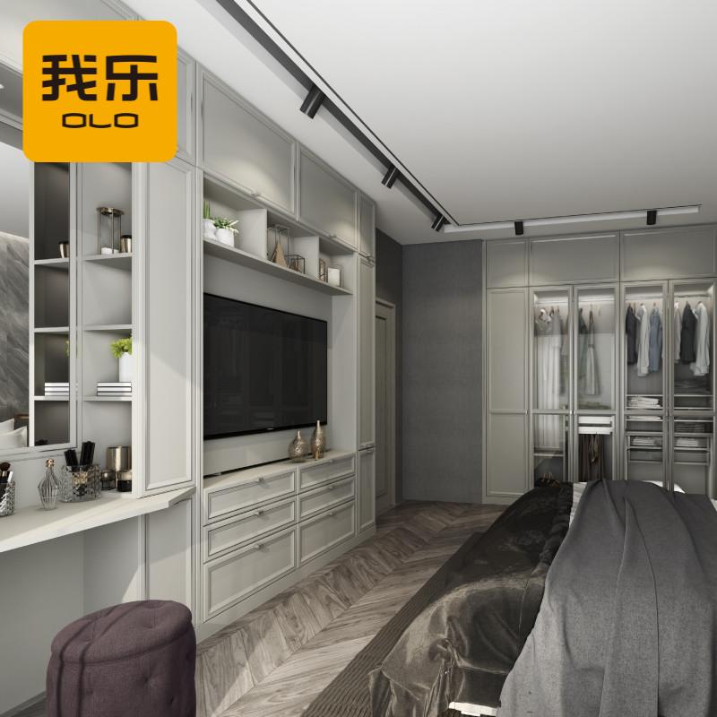 我乐定制 全屋定制 美式实木 卧室定制 卧室衣柜定做图片