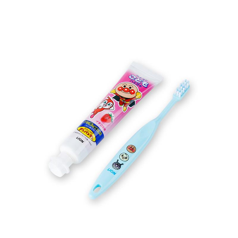 日本进口 狮王面包超人牙膏牙刷套装40g 1.5-5岁 颜色