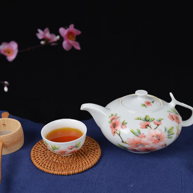 景东 景德镇陶瓷功夫茶具套装家用 5头茶壶茶杯整套水