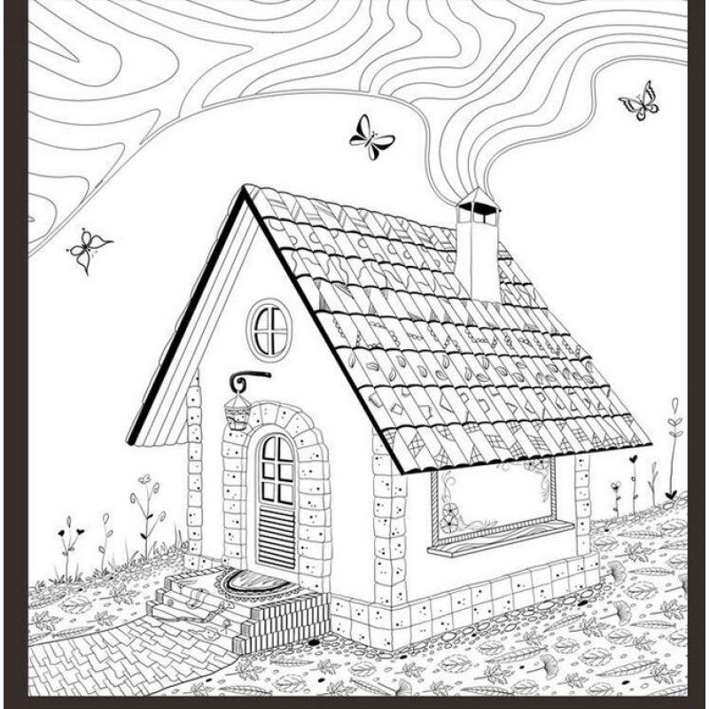 手绘减压涂色书填色本 我的神秘花园全套4册 秘密花园 儿童学生成人