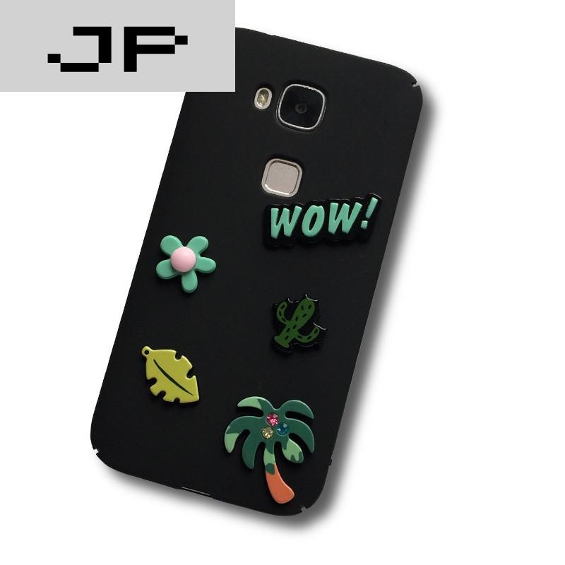 jp潮流品牌 麦芒4手机壳 卡通可爱华为g7plus女款潮保护套贴片挂绳男