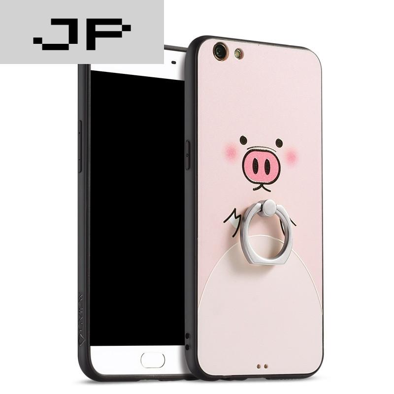 jp潮流品牌 oppor9s手机壳男女款r9splus套r9s指环硬壳韩国可爱防摔潮