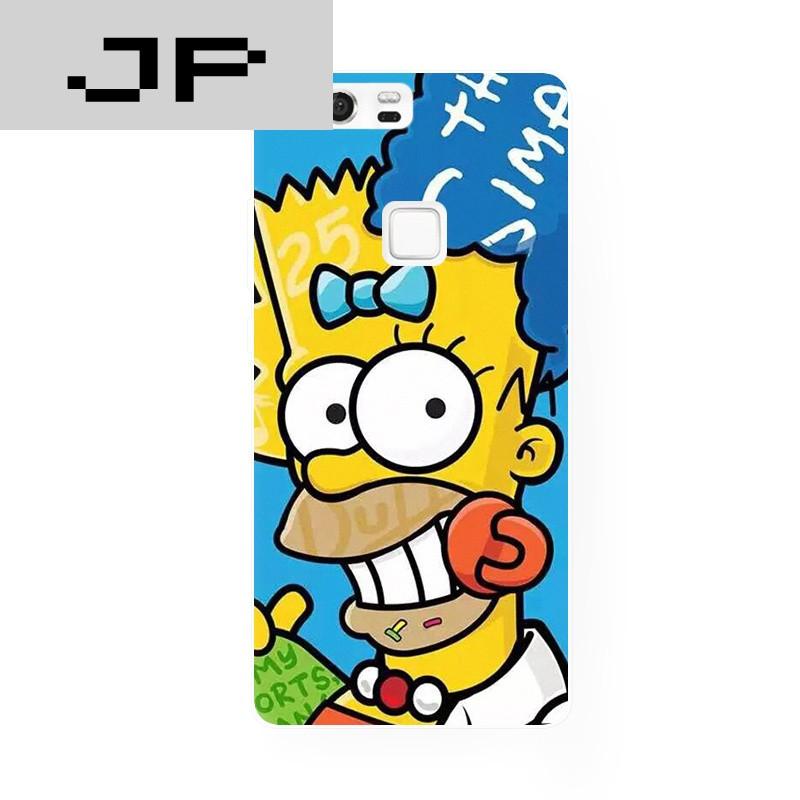 jp潮流品牌原创恶搞可爱辛普森卡通华为 p8 9荣耀6 7plus mate7 8手机