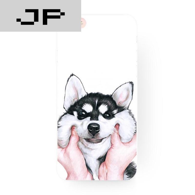 jp潮流品牌简约可爱阿拉斯加二哈狗苹果6s iphone7 plus5se原创意磨砂