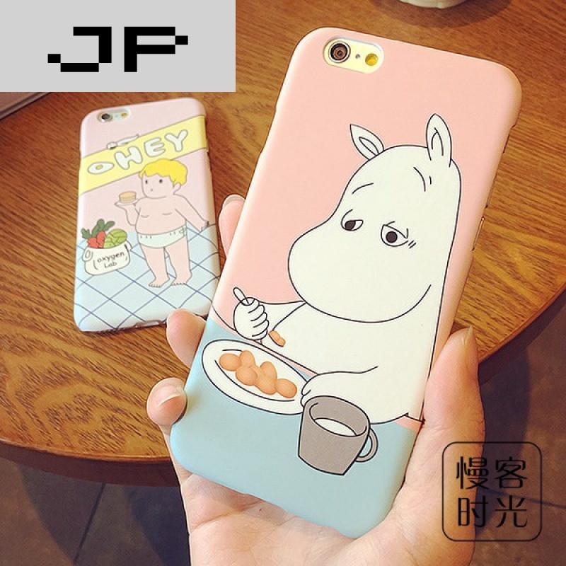 jp潮流品牌小河马iphone6手机壳苹果6s/6plus磨砂4.
