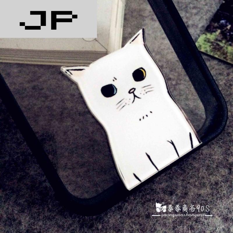 jp潮流品牌iphone防摔手机壳苹果5/5s白色小猫保护套外壳i6plus可爱