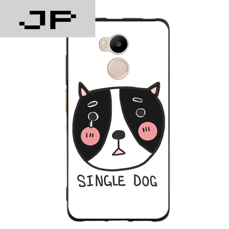 jp潮流品牌 可爱呆萌狗红米4高配/标准版手机壳红米4a