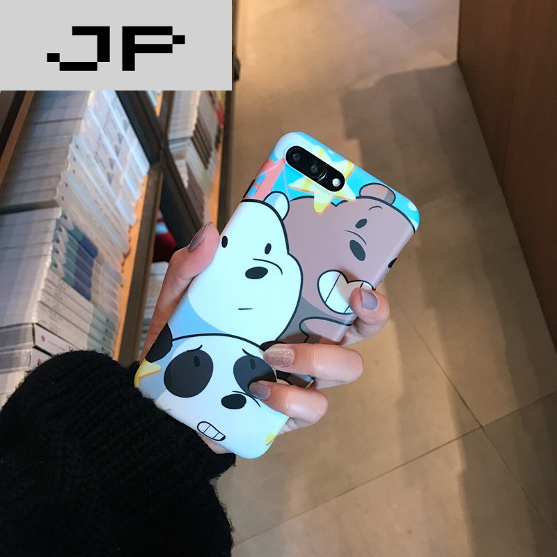 jp潮流品牌咱们裸熊iphone7手机壳苹果6s保护套可爱卡通情侣6p防摔软