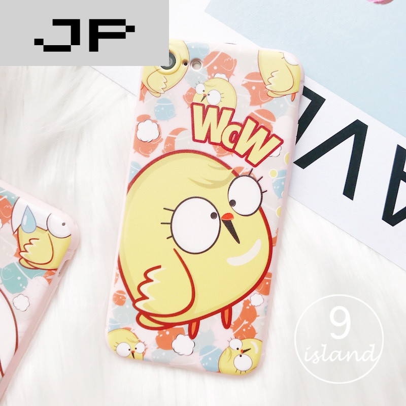 jp潮流品牌新年小鸡iphone6plus手机壳可爱萌苹果7plus挂绳保护套6s硅