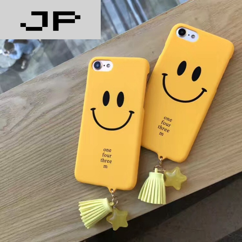 jp潮流品牌smile小清新笑脸字母苹果7/6s手机壳iphone