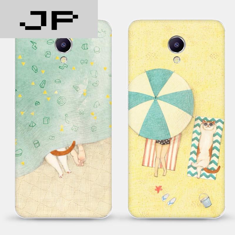 jp潮流品牌魅蓝e/note5/3/metal手机软壳保护套卡通动漫猫与女孩可爱