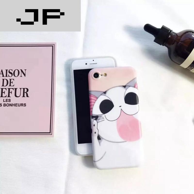 jp潮流品牌起司猫舔屏iphone7手机壳卡通可爱硅胶苹果