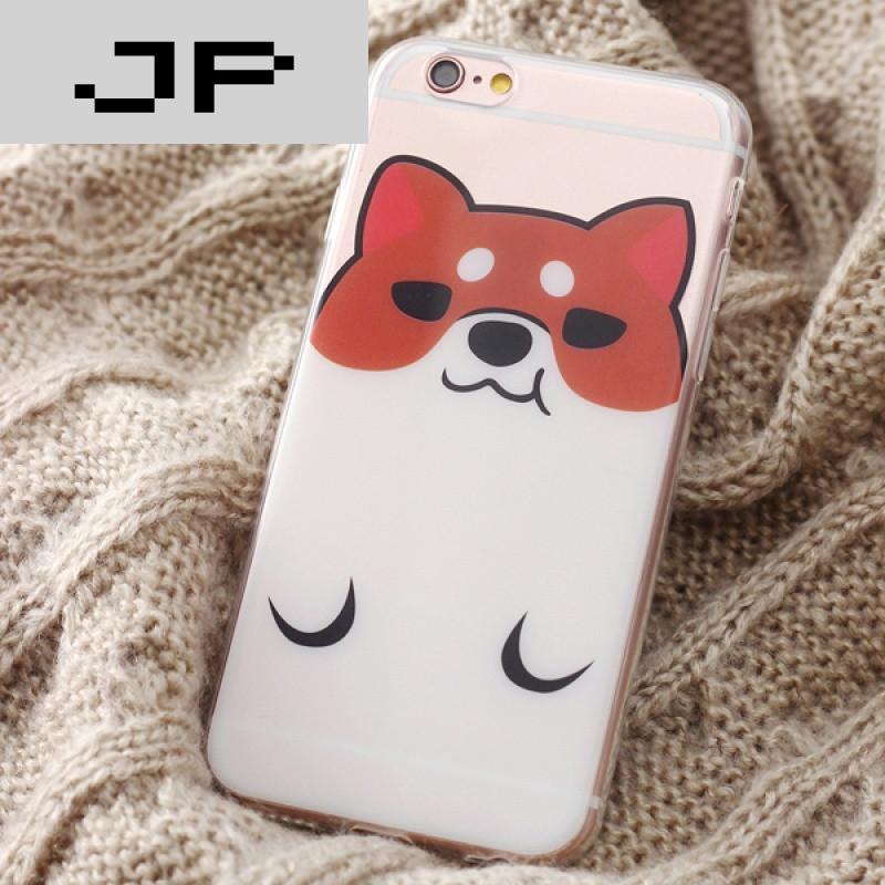 jp潮流品牌原创意可爱柯基小狗iphone6s手机壳苹果6splus透明保护软壳