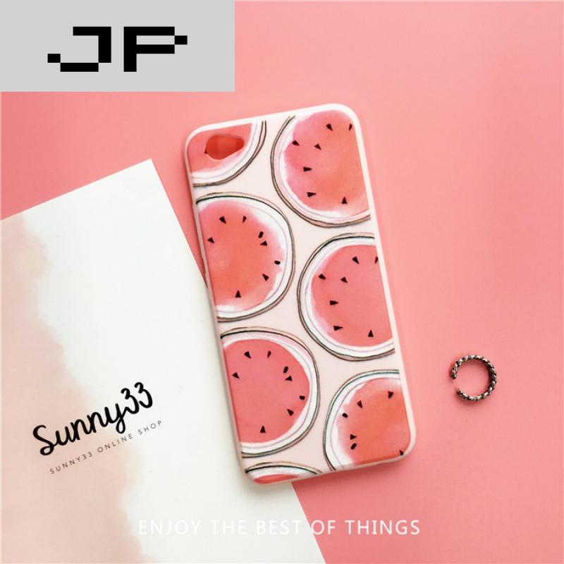 jp潮流品牌夏日水果草莓西瓜vivox7手机壳女款x7plus挂绳软硅胶套x7全