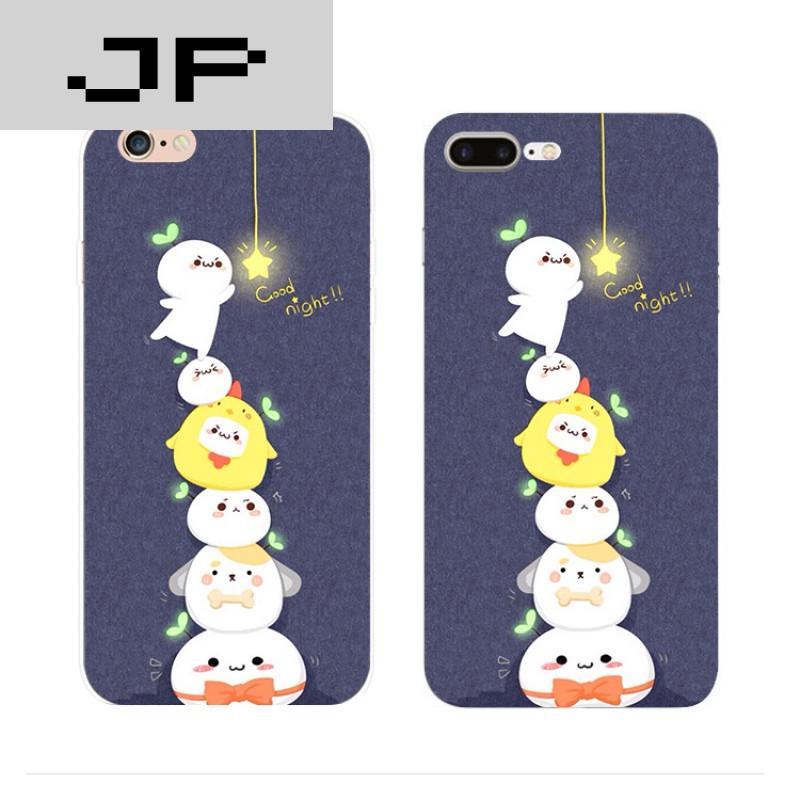 jp潮流品牌简约可爱卡通苹果iphone7 6s plus 5s手机壳硅胶全包软壳防图片