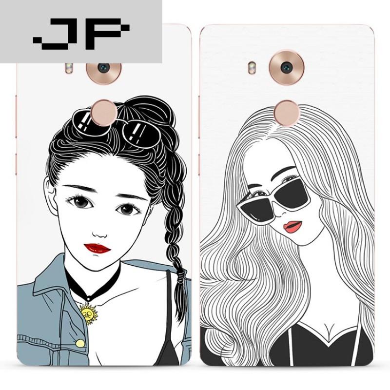 jp潮流品牌个性手绘潮流女孩华为mate9 8 7 nova手机壳硅胶全包软壳防