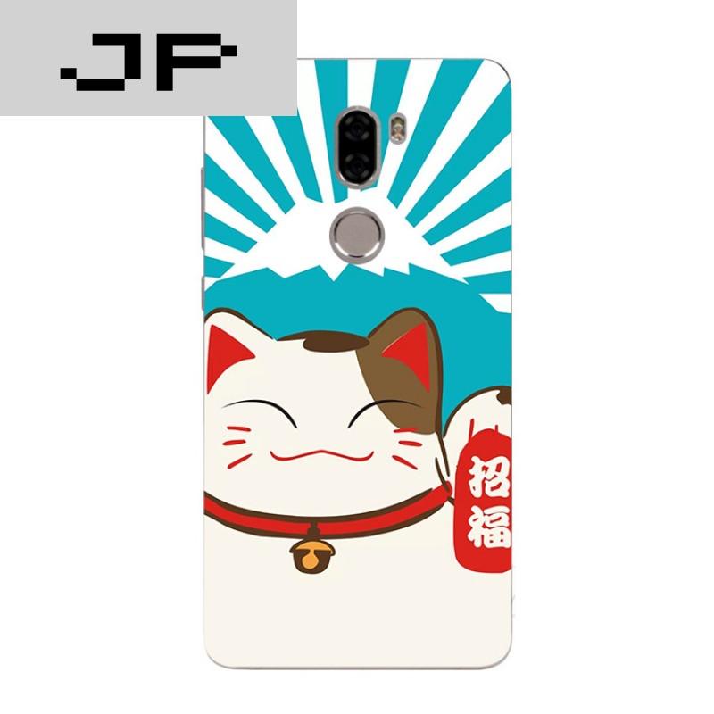jp潮流品牌可爱卡通手绘萌宠mi小米5splus 4s 4c max手机壳 招财猫软