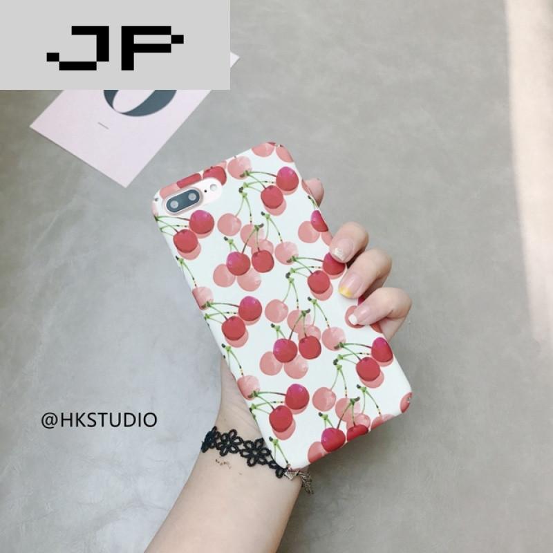 jp潮流品牌夏日小樱桃7plus全包硬壳6s/6plus手机壳红色可爱水果画
