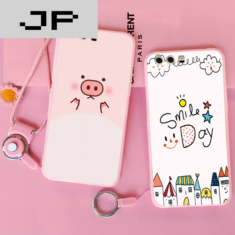 jp潮流品牌华为p10plus手机壳硅胶卡通可爱防摔粉色个性创意全包磨砂