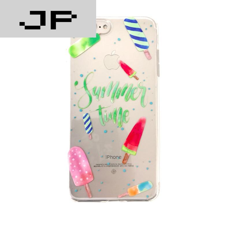 品牌清新西瓜iphone7plus手机壳硅胶苹果6plus软壳透明情侣7p全包可爱