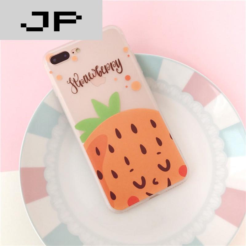 jp潮流品牌小清新水果苹果7plus手机壳硅胶全包iphone6s保护套可爱软