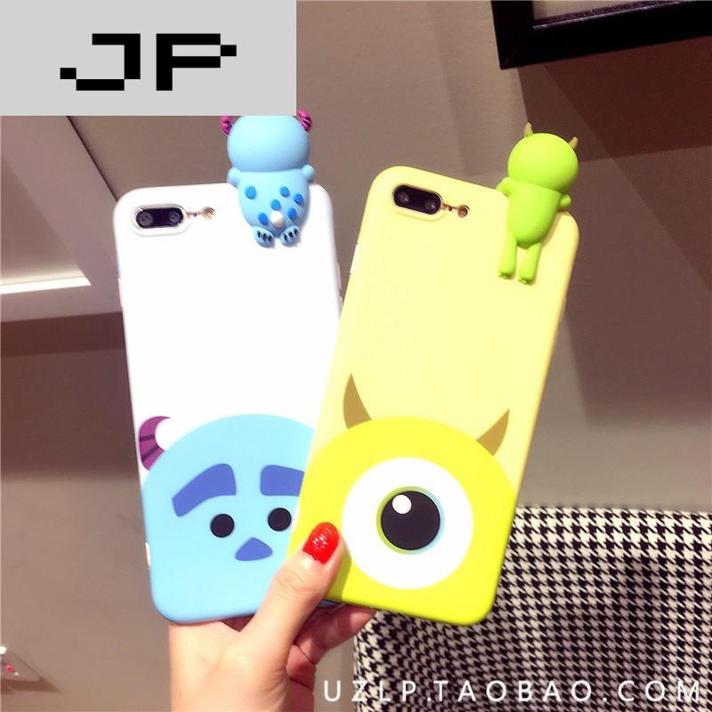 jp潮流品牌可爱立体卡通 苹果7手机壳iphone6plus软壳