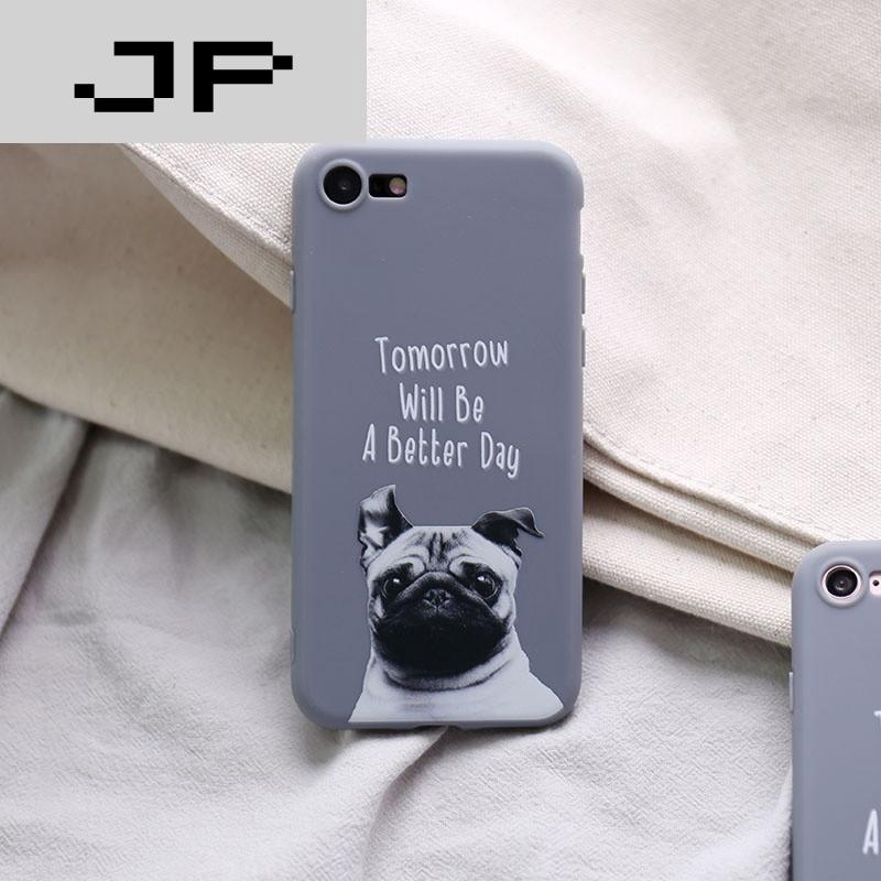 jp潮流品牌苹果6s手机壳7plus硅胶全包软壳5s情侣潮男女款猫咪狗狗