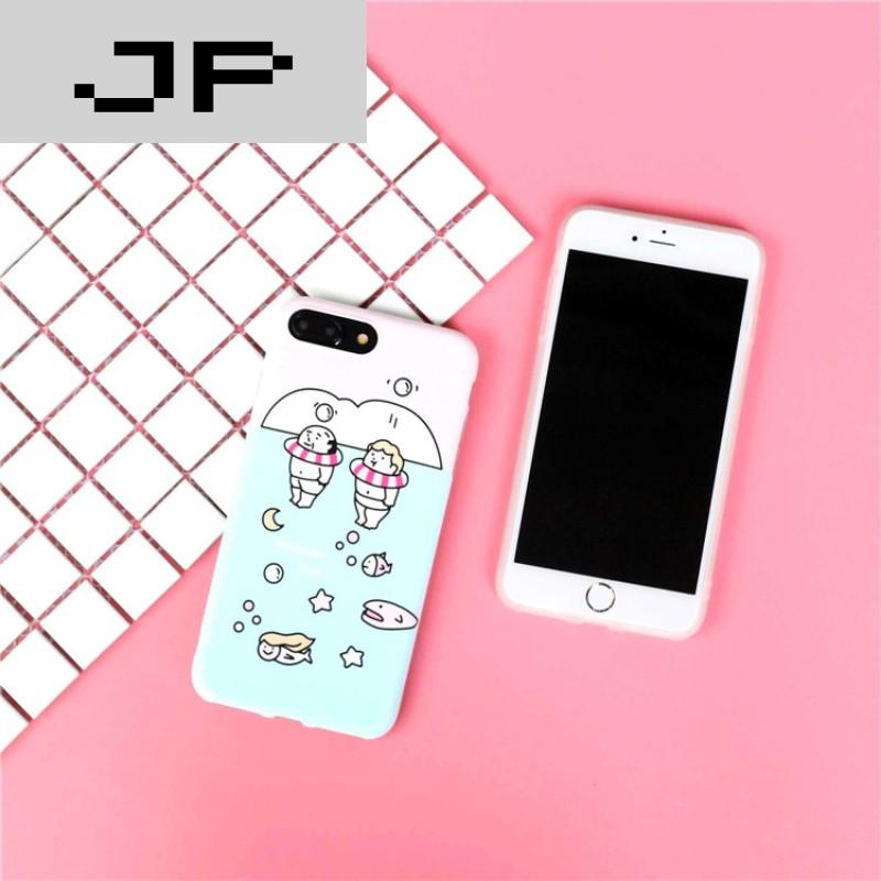 jp潮流品牌夏日可爱小胖子游泳圈iphone7手机壳苹果6s