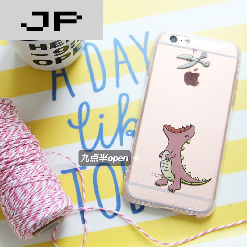 jp潮流品牌原创韩国情侣可爱恶搞小恐龙iphone6/7手机