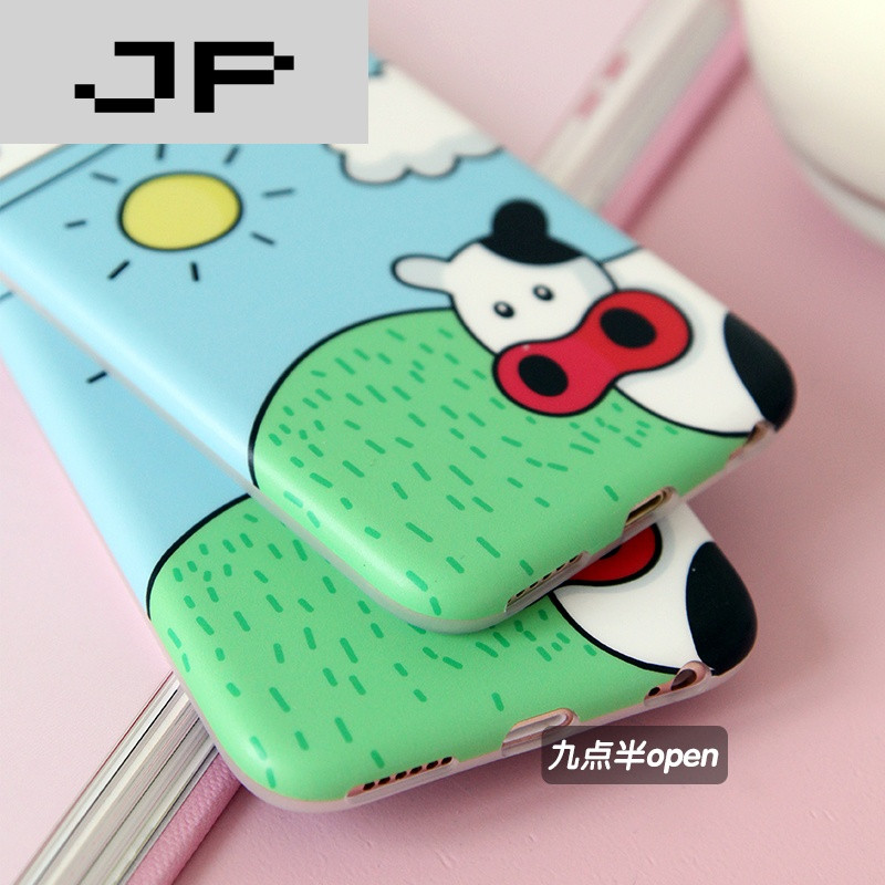 jp潮流品牌韩国可爱牛奶奶牛苹果6/6s手机壳卡通iphone6splus全包软壳
